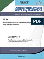 Cuaderno Planificación en El Modelo Sociocomunitario Productivo (1)