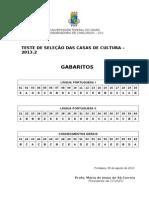 Gabarito Cultura Pos Recurso 2013 2