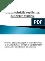 Caracteristicile Copiilor Cu Deficiente Multiple