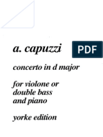 Capuzzi - Double Bass Concerto in D - Bass&Piano