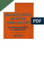 Memorias de Guerra Del Capitan George Carleton