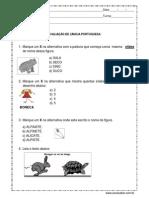 Avaliação de Língua Portuguesa 3º Ano (1)