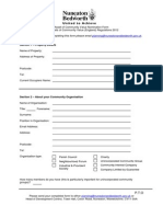 Asset of Community Value Nomination Form