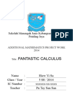 Completed Additional Mathematics Project Work Selangor 2014