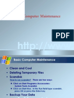 Basic Computer Maintenance