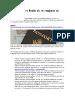 Tramites Para Bodas de Extranjeros en México