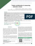 Mbaeri Accuracy of Prader Orchidometer