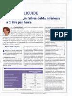 DEBITS de LIQUIDES - La Mesure Des Faibles Débits Inférieurs à 1 Litre Par Heure - 2006
