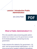 Handout lecture 1 Introduction to public administration