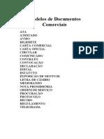 Modelos de Documentos Comerciais
