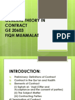 General Theory in Contract and Sales Contract