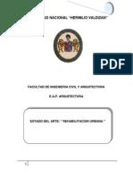 Rehabilitacion Urbana Ordenada Mediante Conjunto de Vivienda en La Ciudad de Huanuco