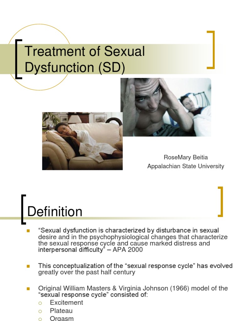 Sexuality treatment assignments