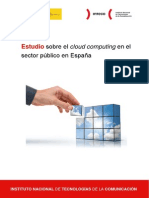 Estudio Inteco Cloud Computing en Sector Publico