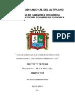 Análisis de Rentabilidad de Servicios Turísticos de Hospedajes de La Ciudad de Puno