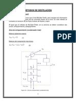 Métodos de Destilación
