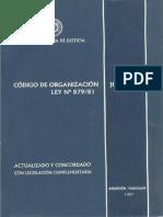 Codigo de Organizacion Judicial