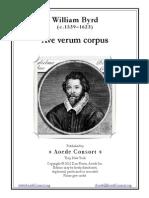 Ave Verum Corpus - William Byrd (SATB)