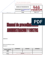 Manual de Administracion y Costo