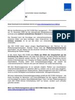 Risikomanagement ISO 31000 - jetzt veröffentlicht