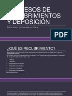Procesos de Recubrimientos y Deposición