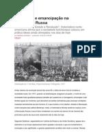 História - Amor Livre e Emancipação Na Revolução Russa - FONTE, Site Carta Capital (Por Marsílea Gombata)