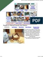 Recipes for Encaustic Wax Medium