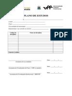 Modelo de PLano de Estudos