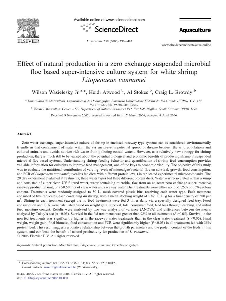 Biofloc in Shrimp | Water | Experiment