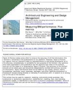 Measuring BIM Performance - Five Metrics
