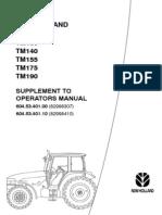 Руководство оператора трактора TM120 -TM190