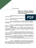 Lei 648 Lei de Subsídios Prefeito e Vice-Prefeito 2009-2012