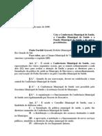 Projeto de Lei 020 - 08 Lei 627