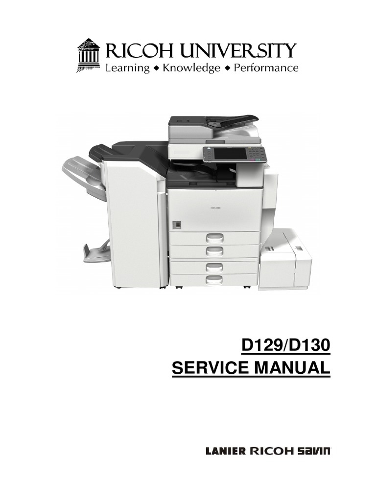 Aficio 4002-5002 D129/D130 SERVICE MANUAL | Image Scanner | Battery  (Electricity)