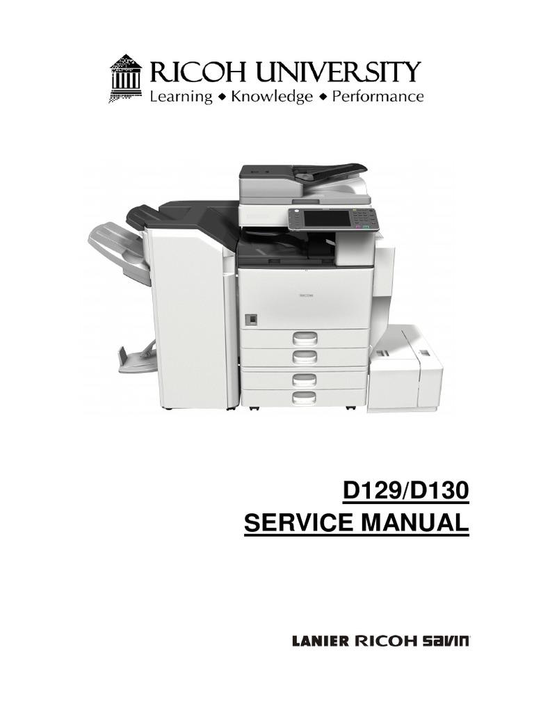 Aficio 4002-5002 D129/D130 SERVICE MANUAL | Image Scanner | Battery  (Electricity