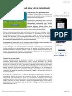 ¿Qué son los polímeros? | Textos Científicos.pdf