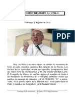 Domingo, 01 de Junio 2014. Papa Francisco. Ascensión Del Señor.
