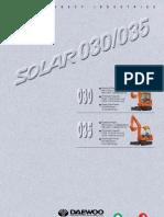 Daewoo Miniexcavadora SOLAR 030 / SOLAR 035