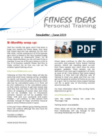 Fitness Ideas Newsletter - 1 June 2014