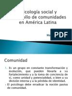 Psicología Social y Desarrollo de Comunidades
