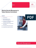Effective Records Management in Today's Business Environment