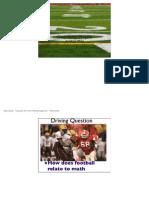 geomtry project-american football field