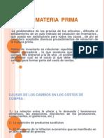 Costos Sesi+¦n Materia Prima