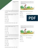 exercicios comparação frações