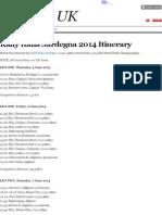 Rally Italia Sardegna 2014 Itinerary in UK Times