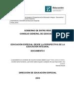 1-Educación Especial Desde La Perspectiva de La Educación Integral - Documento I - CGE 2010