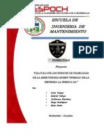 Proyecto Fiabilidad Embutidora La Iberica