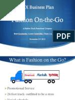 Fashion on-The-Go Final Business Presentation
