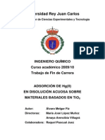 Adsorcion de Mercurio TiO2