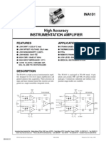 INA101 High Accuracy Instrumentation Amplifier